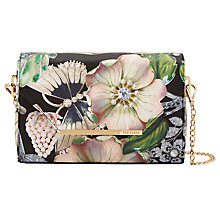 Buy Ted Baker Emelym Gem Gardens Across Body Bag, Black Online at johnlewis.com