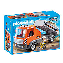 Buy Playmobil City Action Flatbed Workman Truck Online at johnlewis.com