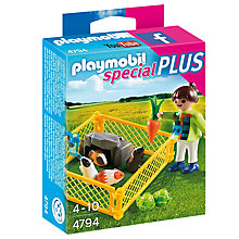 Buy Playmobil Girl And Guinea Pigs Online at johnlewis.com