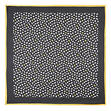 Buy Hobbs Isabelle Silk Scarf, Black/Multi Online at johnlewis.com