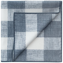 Buy Thomas Pink Richardson Check Print Pocket Square, Grey/White Online at johnlewis.com