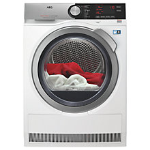Buy AEG T8DEC846R  8000 Series Heat Pump Tumble Dryer, 8kg Load, A++ Energy Rating, White Online at johnlewis.com