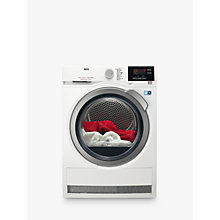 Buy AEG T8DBG842R 8000 Series Heat Pump Tumble Dryer, 8kg Load, A++ Energy Rating, White Online at johnlewis.com