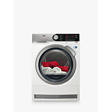 Buy AEG T8DEC946S 8000 Series Heat Pump Tumble Dryer, 9kg Load, A++ Energy Rating, White Online at johnlewis.com