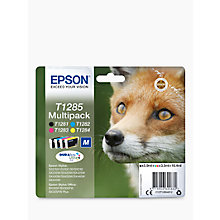 Buy Epson Fox T1285 Inkjet Printer Cartridge Multipack, Pack of 4 Online at johnlewis.com