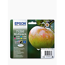 Buy Epson Apple T1295 Inkjet Printer Cartridge Multipack, Pack of 4 Online at johnlewis.com