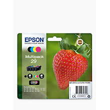 Buy Epson Strawberry T2986 Inkjet Printer Cartridge Multipack, Pack of 4 Online at johnlewis.com