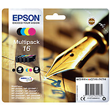 Buy Epson Pen & Crossword T1626 Inkjet Printer Cartridge Multipack, Pack of 4 Online at johnlewis.com