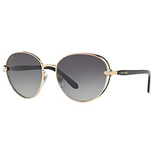 Buy Bvlgari BV6087B Embellished Oval Sunglasses Online at johnlewis.com