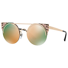Buy Bvlgari BV6088 Embellished Round Sunglasses Online at johnlewis.com
