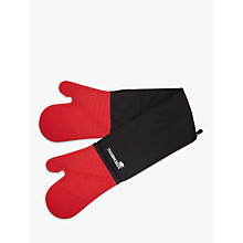 Buy Masterclass Silicon Double Oven Gloves, Red / Black Online at johnlewis.com