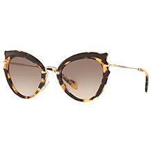 Buy Miu Miu MU 05SS Cat's Eye Sunglasses Online at johnlewis.com