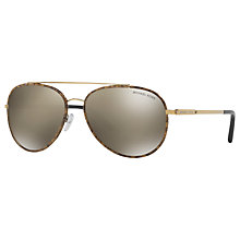 Buy Michael Kors MK1019 Ida Aviator Sunglasses Online at johnlewis.com