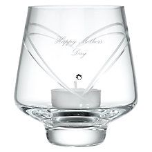 Buy Dartington Crystal Personalised Romance Votive, Palace Script Font Online at johnlewis.com