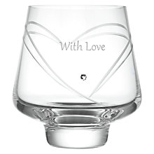 Buy Dartington Crystal Personalised Romance Votive, Gabriola Font Online at johnlewis.com