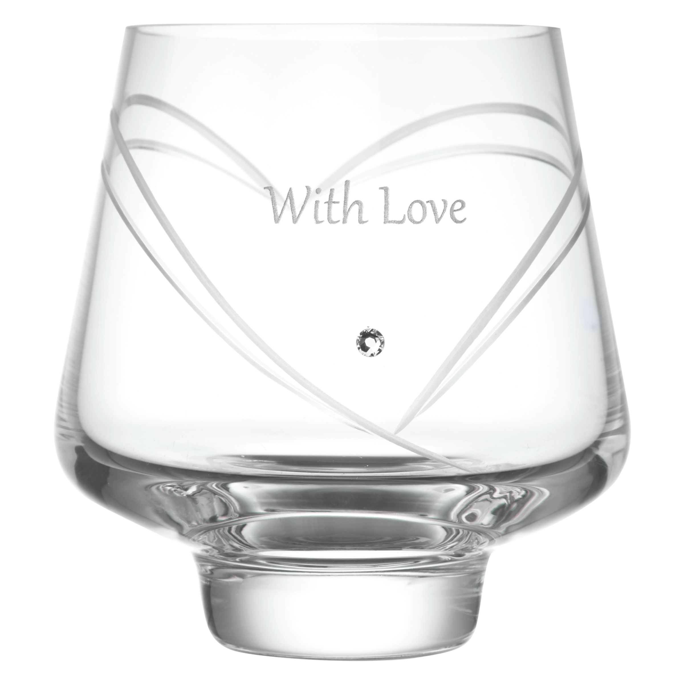Dartington Crystal Dartington Crystal Romance Votive, Gabriola Font