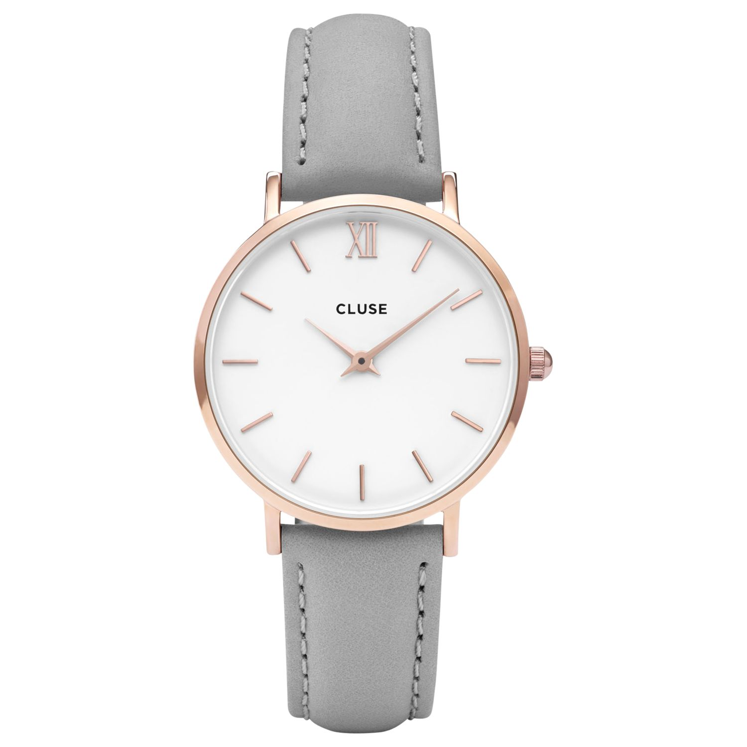 Cluse CLUSE Women's Minuit Rose Gold Leather Strap Watch