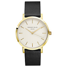 Buy ROSEFIELD Women's The Gramercy Leather Strap Watch Online at johnlewis.com