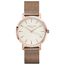 Buy ROSEFIELD Women's The Mercer Mesh Bracelet Strap Watch Online at johnlewis.com