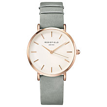 Buy ROSEFIELD WMGR-W74 Women's The West Village Leather Strap Watch, Mint Grey/White Online at johnlewis.com