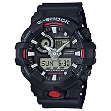 Buy Casio GA-7001-AER Men's G-Shock Chronograph Digital Resin Strap Watch, Black/Grey Online at johnlewis.com