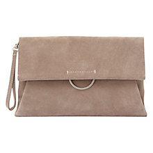 Buy Mint Velvet Leather Crescent Bar Clutch Bag, Mink Online at johnlewis.com