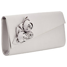Buy Jacques Vert Flower Clutch Bag, Mid Grey Online at johnlewis.com