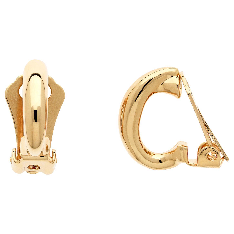 Finesse Finesse Small Hoop Clip On Earrings