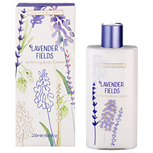 Buy Heathcote & Ivory Lavender Fields Softening Body Cream, 250ml Online at johnlewis.com