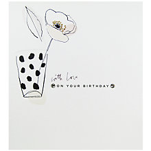 Buy Woodmansterne With Love On Your Birthday Card Online at johnlewis.com