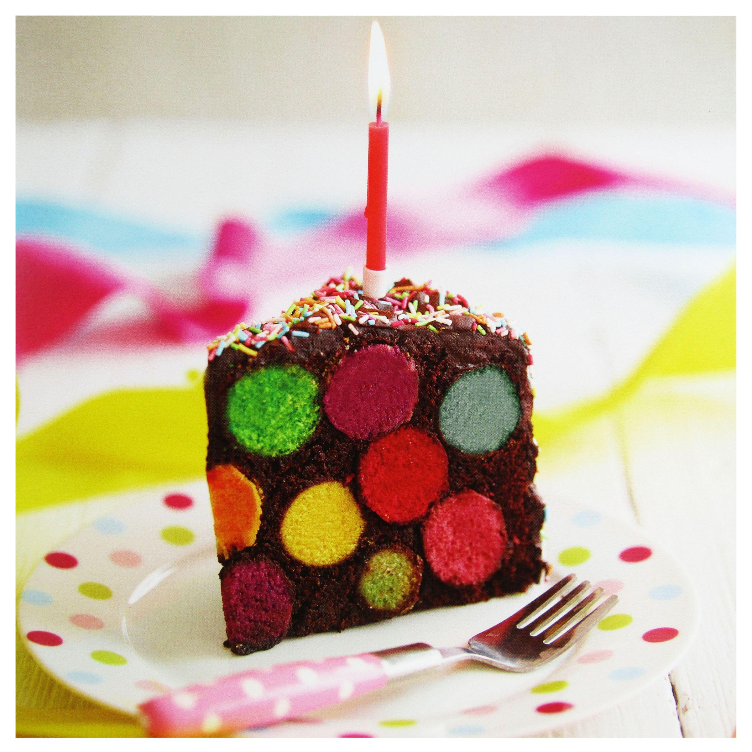 Birthday Cake John Lewis : Buy Paper Rose Spotty Cake Greeting Card John Lewis