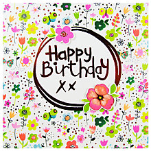 Buy Paper Salad Happy Birthday Flower Card Online at johnlewis.com