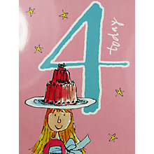 Buy Woodmansterne Girl Balancing Jelly 4th Birthday Card Online at johnlewis.com
