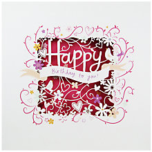 Buy Paperlink Happy Birthday Greeting Card Online at johnlewis.com