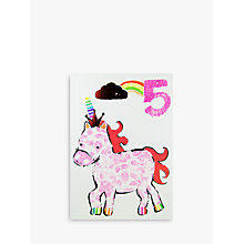 Buy Paper Salad Unicorn Age 5 Birthday Card Online at johnlewis.com