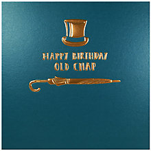 Buy Woodmansterne Old Chap Hat Birthday Card Online at johnlewis.com