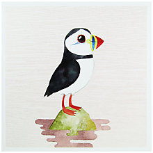Buy Woodmansterne Puffin On A Rock Greeting Card Online at johnlewis.com