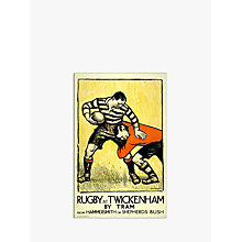 Buy London Transport Museum - Rugby At Twickenham Print, 30 x 40cm Online at johnlewis.com