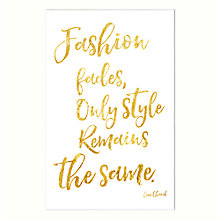 Buy John Lewis Fashion Fades Unfrmaed Print, 30 x 40cm Online at johnlewis.com