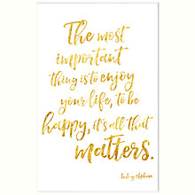 Buy John Lewis The Most Important Thing Unframed Print, 30 x 40cm Online at johnlewis.com