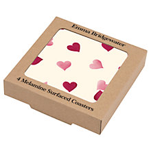 Buy Emma Bridgewater Pink Hearts Coasters, Set of 4 Online at johnlewis.com