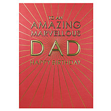 Buy Paperlink Amazing Dad Birthday Card Online at johnlewis.com