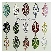 Buy Really Good Leaves Thinking Of You Card Online at johnlewis.com