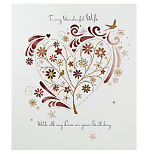 Buy Paperlink Wife Birthday Card Online at johnlewis.com