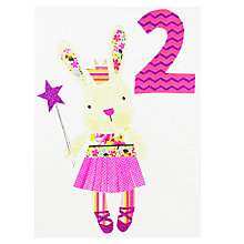 Buy Paper Salad Age 2 Girl Bunny Birthday Card Online at johnlewis.com