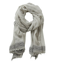 Buy Betty Barclay Long Fringed Scarf, Shiny Silver Online at johnlewis.com