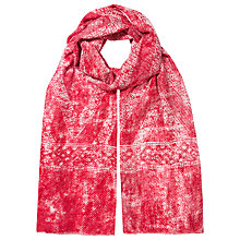 Buy East Brick Blurred Zig Zag Scarf, Red Online at johnlewis.com