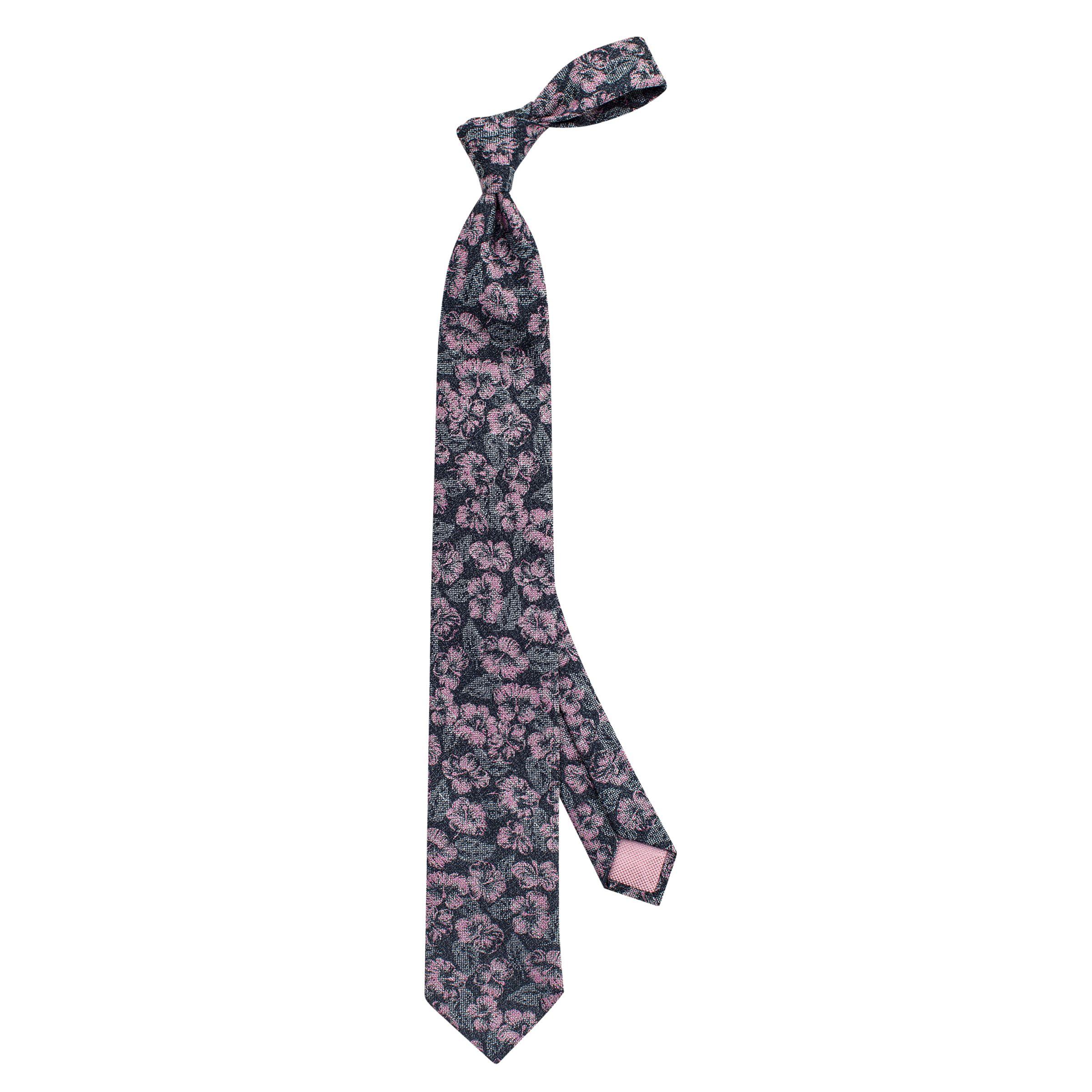 Thomas Pink Thomas Pink Hiddleston Flower Woven Tie, Navy/Red