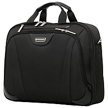 "Buy Wenger 17"" Laptop Briefcase, Black Online at johnlewis.com"