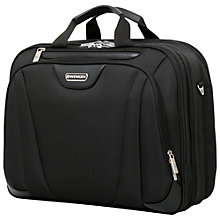 "Buy Wenger 17"" Laptop Triple Briefcase, Black Online at johnlewis.com"